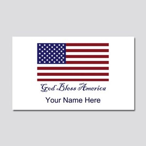 God Bless America Personalize Car Magnet 20 X 12